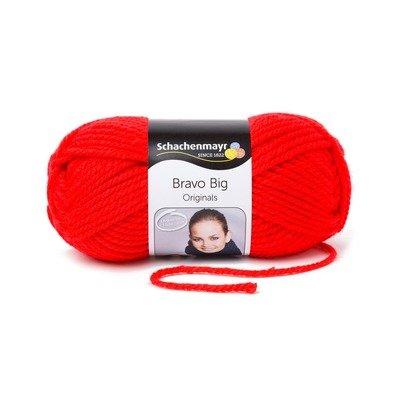 Acrylic Yarn-Bravo Big-Red 00132