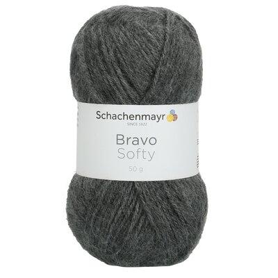 Acrylic yarn Bravo Softy - Grey Heather 08319