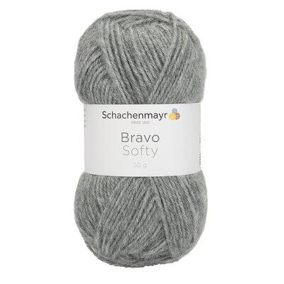 Acrylic yarn Bravo Softy - Medium Grey 08295