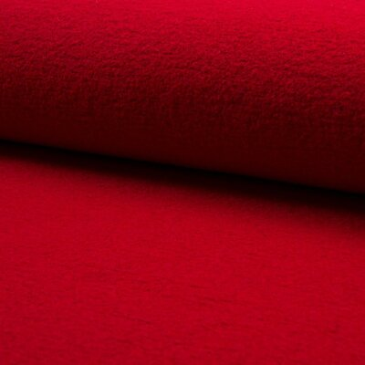 Boiled Wool Viscose Fabric - Red