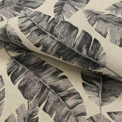 Canvas Linen Look Fabric - Safari Leaves