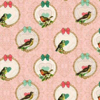 Cotton Canvas - Vintage Birds
