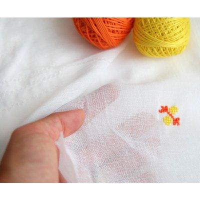 Cotton Gauze Anuca Smooth White