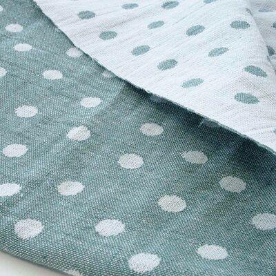 Cotton Jaquard Double face - Dots Dusty Mint