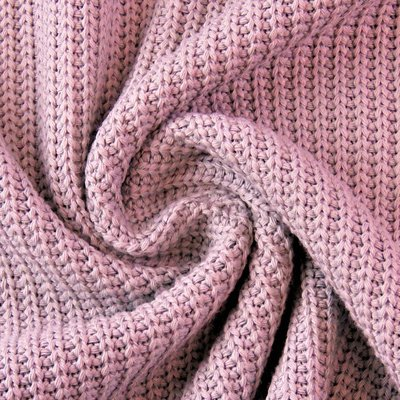 Cotton Knitted Cable - Old Rose