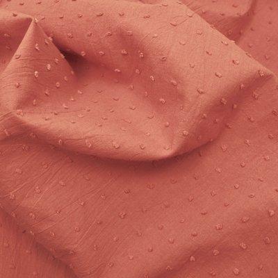 Cotton voile fabric - Plumetis Marsala