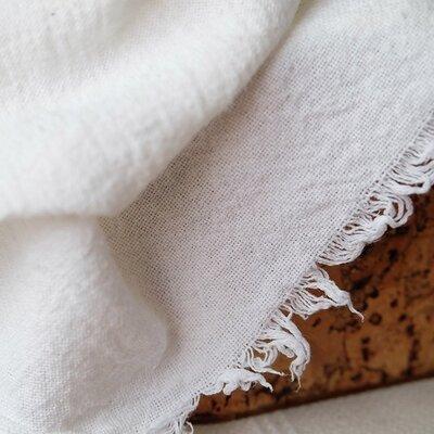 Crinkled Cotton Gauze - Varvara White