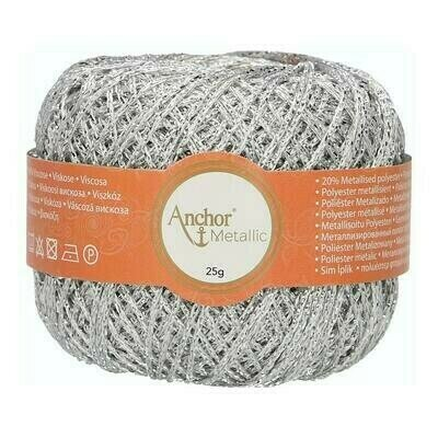 Crochet Thread - Anchor Artiste Metallic 00301