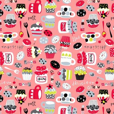Digital print cotton - Petit Sucre Pink