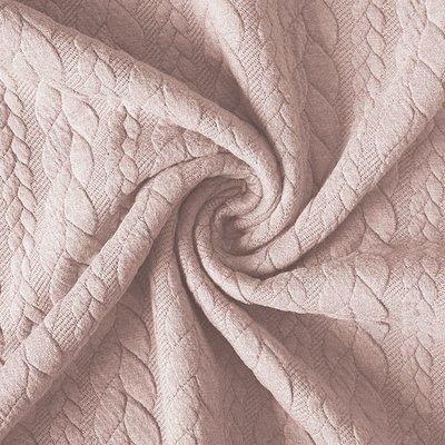 Jacquard Cable Knit - Powder Rose