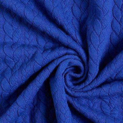 Jacquard Cable Knit - Royal Blue