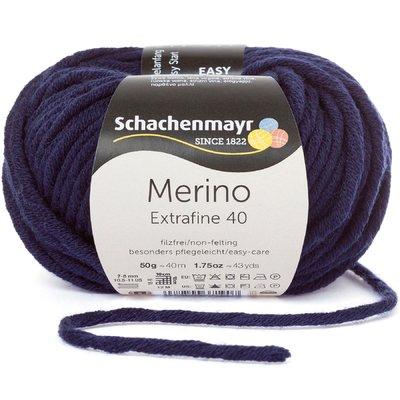 Merino Wool Yarn - Extrafine 40 - Marine 00350