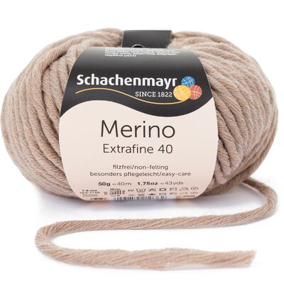 Merino Wool Yarn Extrafine 40 - Sand Melange 00304