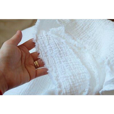 Organic Cotton muselin Smarandita White