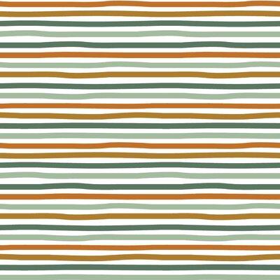 Organic Jersey - Stripes White