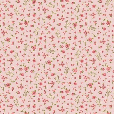 Organic Poplin Printed- Flower Rose