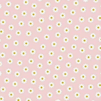 Printed Cotton - Daisy Flower Rose