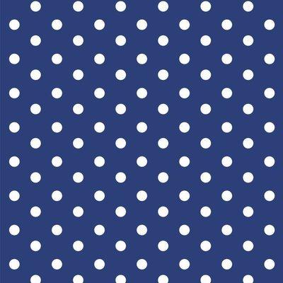 Printed Cotton - Dots Cobalt