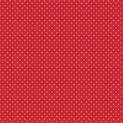 Printed Cotton - Petit Dot Red
