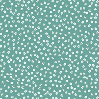 Printed Cotton poplin - Ditsy Floral Fresh Sage