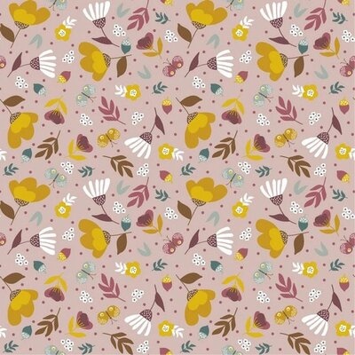 Printed Cotton poplin - Spring Garden Liliac