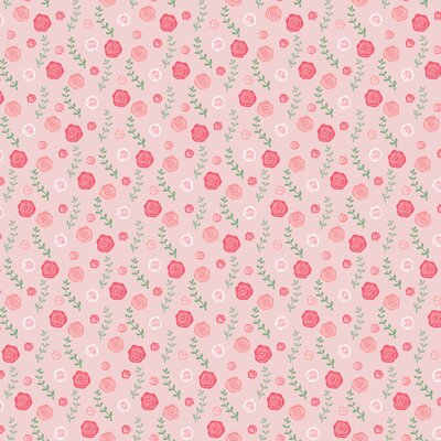 Printed Poplin - Ballerina Roses Light Rose