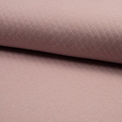 Quilted Jersey Cotton Diamond - Nude