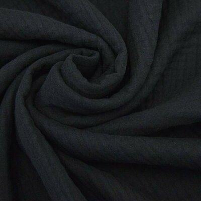 Triple gauze Muslin 185 gr/mp - Black