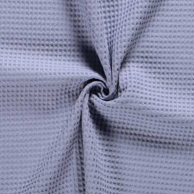 Waffle Pique Cotton Fabric Baby Blue