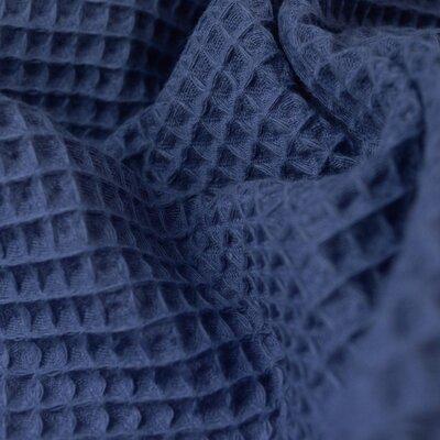 Waffle Pique Cotton Fabric Indigo