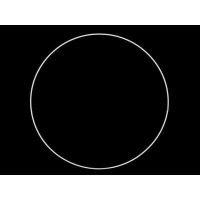 White Metal ring for dreamcatchers - 30 cm diam