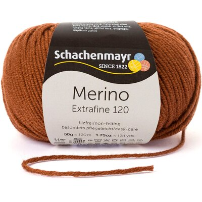Woll Yarn - Merino Extrafine 120 Chocko 00111
