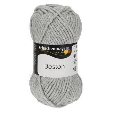 Wool blend yarn Boston-Light Grey 00090