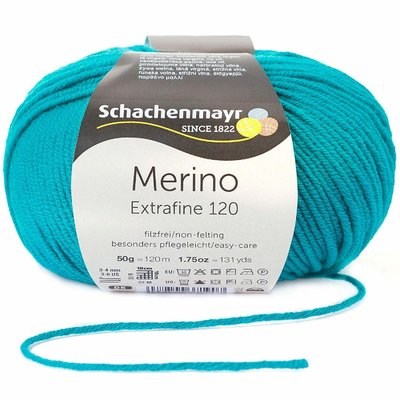 Wool yarn - Merino Extrafine 120 Pine 00177