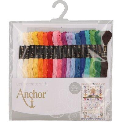 Asortiment Mouline pentru broderie Anchor - 18 culori