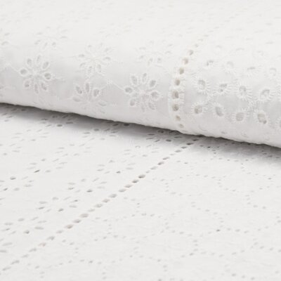 Bumbac broderie englezesca Deluxe - Multi Models White