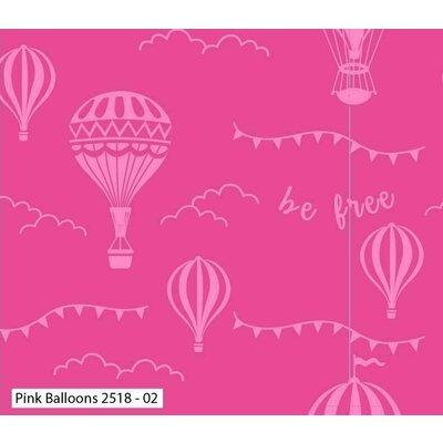 Bumbac Imprimat - Balloons Pink