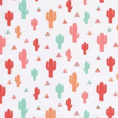 Bumbac imprimat - Be Brave Cactus
