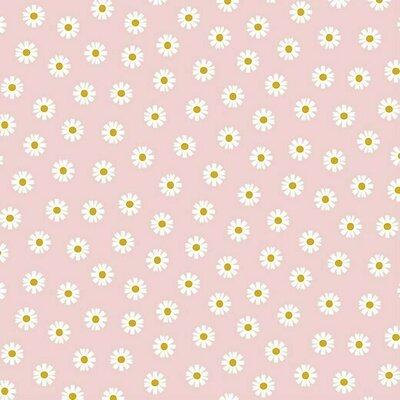 Bumbac imprimat - Daisy Flower Rose