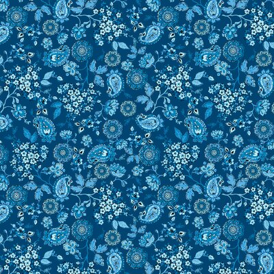 Bumbac imprimat digital - Chelsea Deep Blue