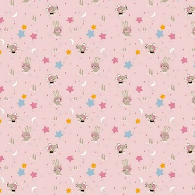 Bumbac imprimat - Glitter Animals Rose