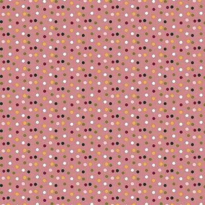 Bumbac imprimat - Happy Feeling Dots Rose