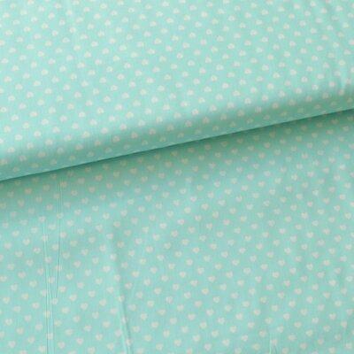 Bumbac Imprimat - Hearts Mint