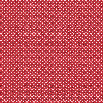 Bumbac imprimat - Mini Stars Red