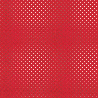 Bumbac imprimat - Petit Dot Red