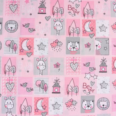 Bumbac imprimat - Sweet Animals Pink