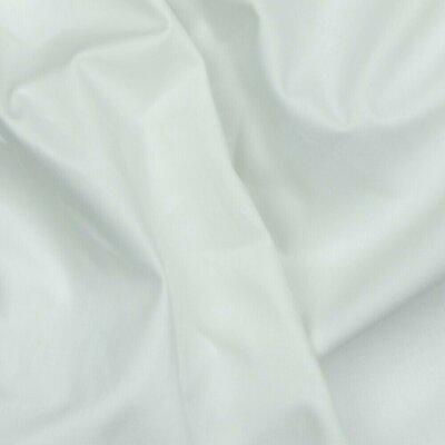 Poplin bumbac Organic uni - White