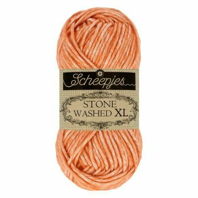 Fir bumbac melanj Stone Washed XL - Coral 856