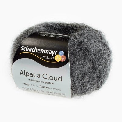 Fir de tricotat Alpaca Cloud - Charcoal 00098