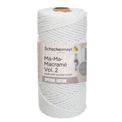 Fir tip snur gros - Ma-Ma-Macrame 2 - White 00001
